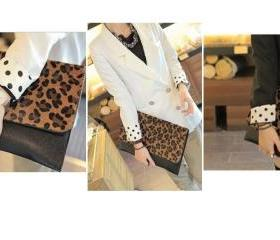 Leopard Skin Clutch Purse